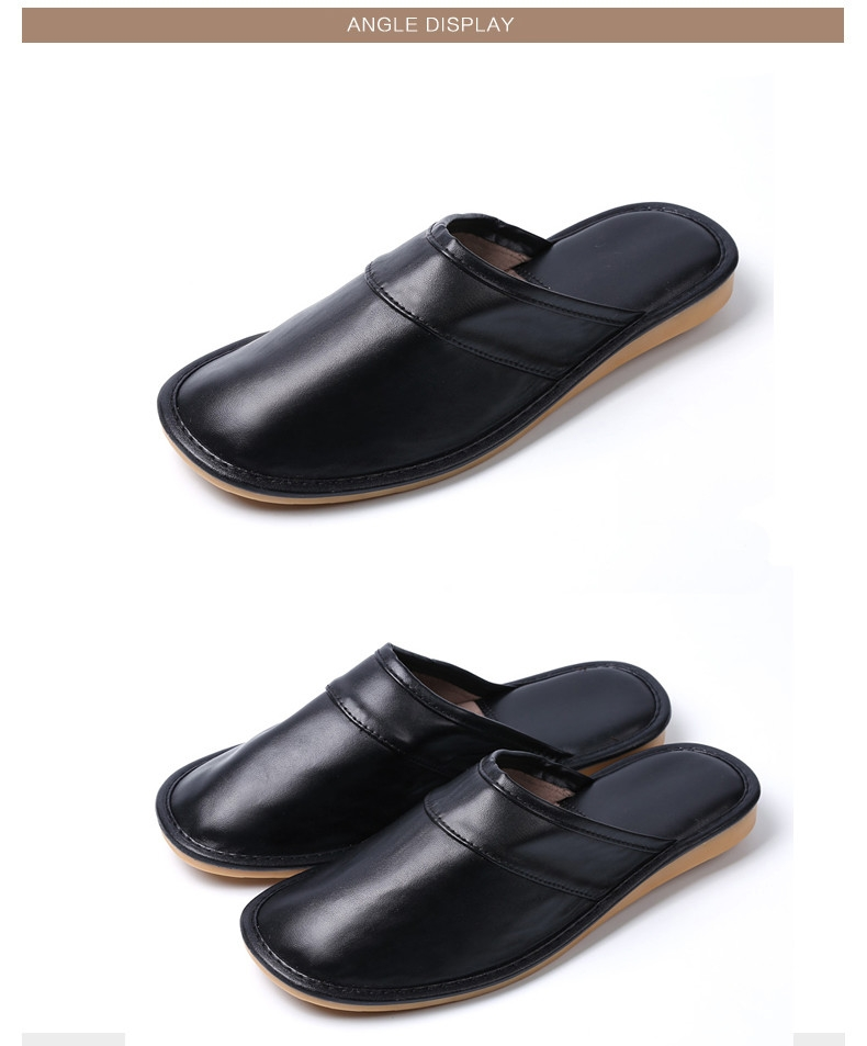 Autumn and Winter Male and Female Skin Cotton Tow Lovers Style Slippers