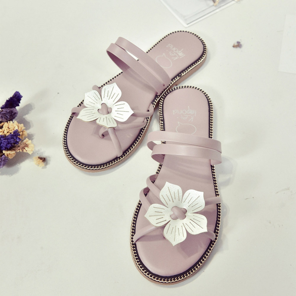 e48686ce6dcc3 Fashion Blicool Shop Women Sandals Women Bohemia Summer Flower Weave ...