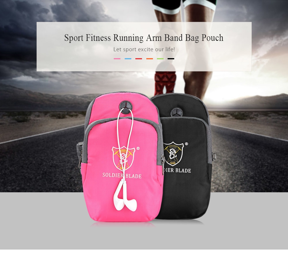 SOLDIERBLADE Gym Fitness Phone Sport Running Pouch Arm Band Outdoor Bag