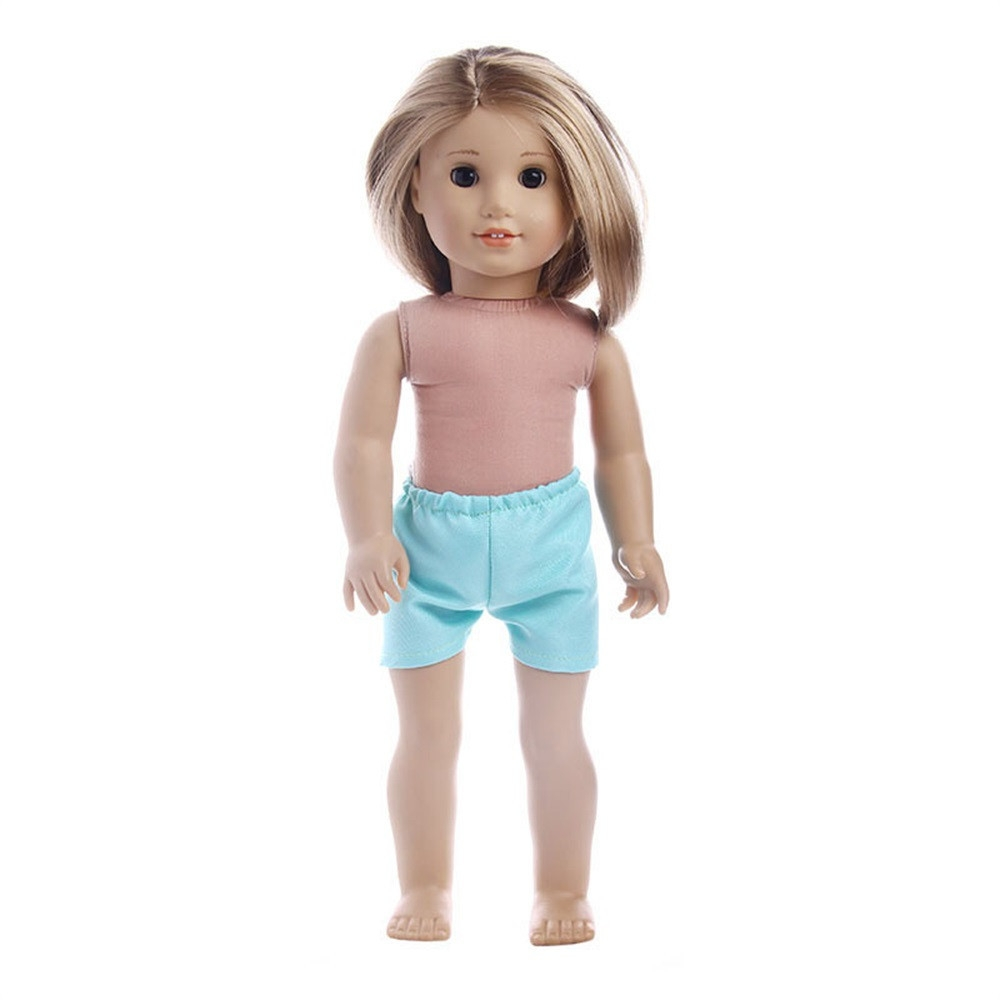 ce7544602 Fashion Braveayong Fashion Doll Short Pant For 18inch American Girl Baby  Born Zapf Doll Clothes -green