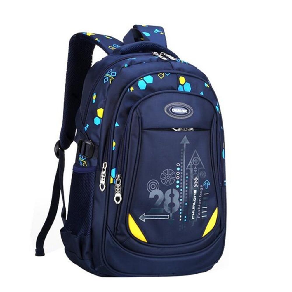 ec6b1d5b5bb3 Kids Nylon Large Backpack Children School Bag For Middle Primary School  Student Dark Blue