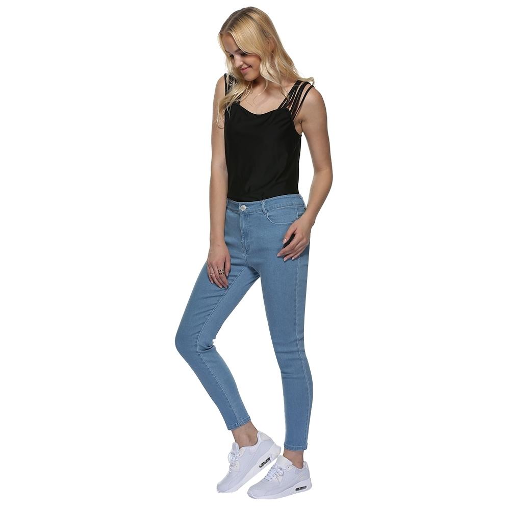 Buy FASHION Mid Waist Denim Pants - Light Blue @ Best Price Online - Jumia Kenya