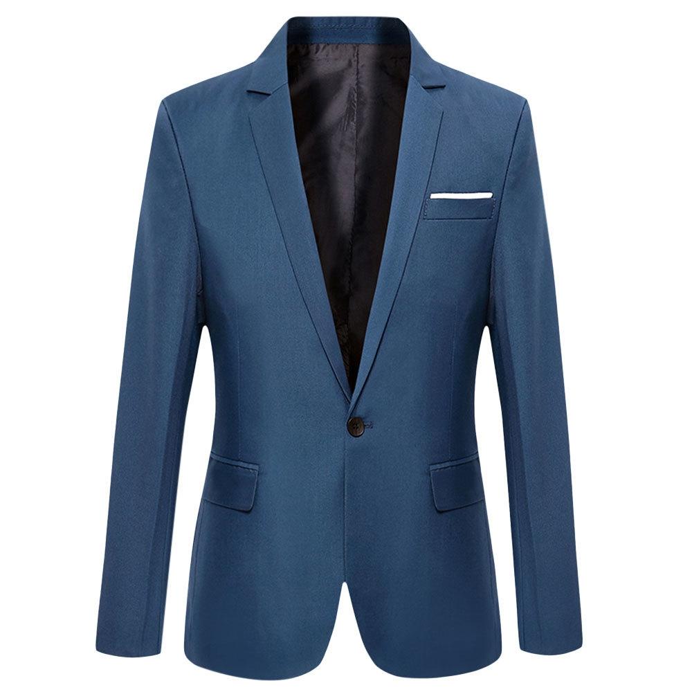 Buy FASHION Men\'s Slim Fit Suit Blazer - Deep Blue @ Best Price ...