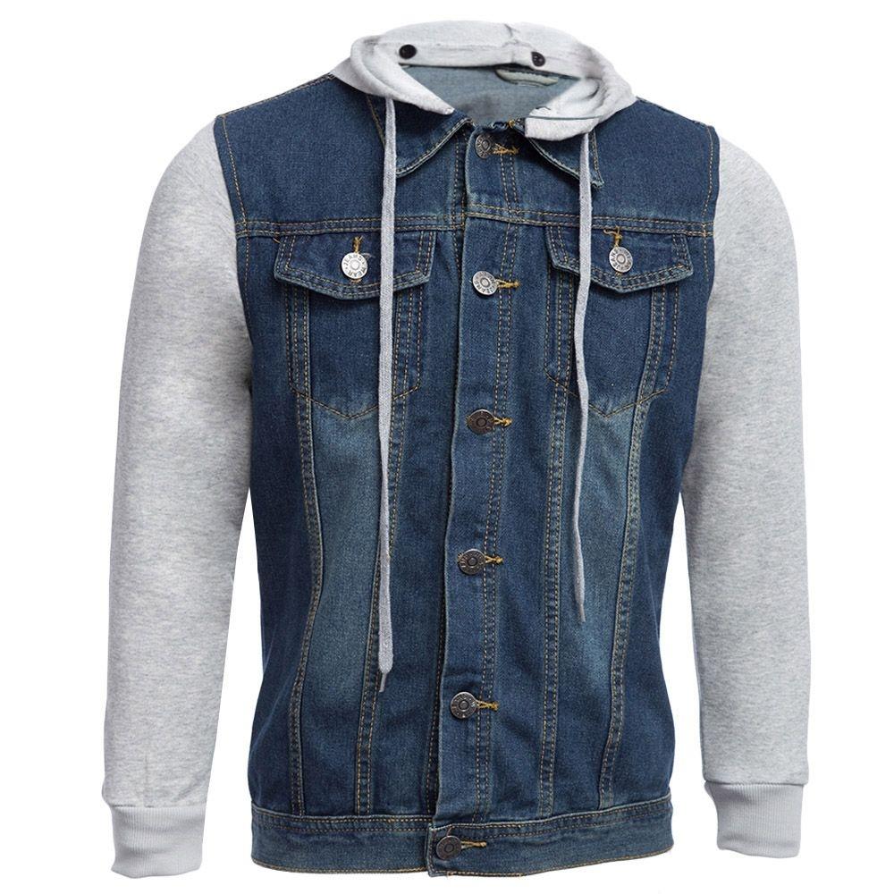 FASHION Menu0026#39;s Hooded Detachable Denim Jacket - Blue - Jumia Kenya