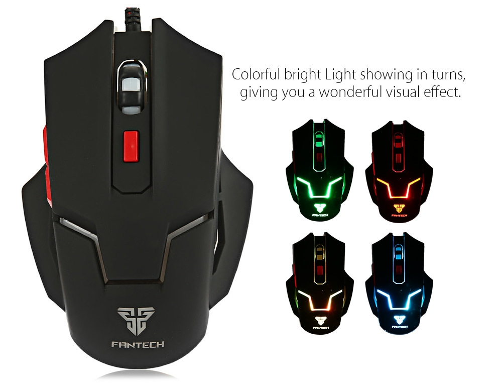 Fantech V4 2400 DPI Optical 6D USB Wired Gaming Mouse with LED Backlight