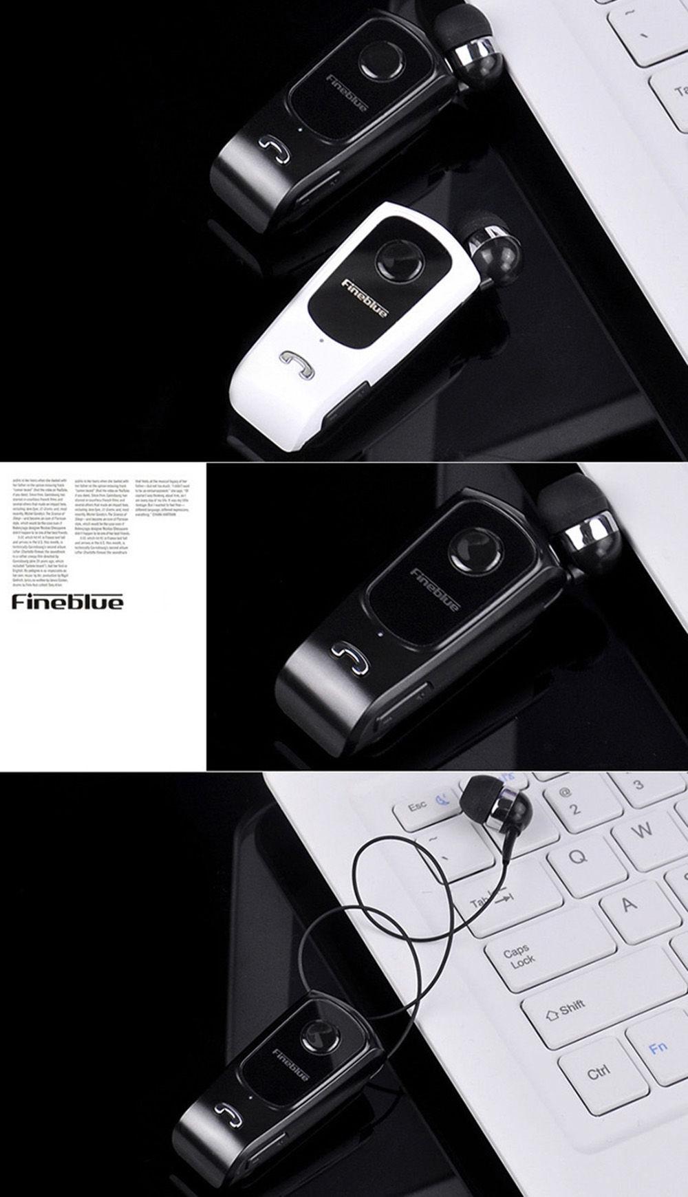 FINEBLUE F920 Wireless Bluetooth V4.0 Headphone Calls Vibration Remind Wear Clip Headset