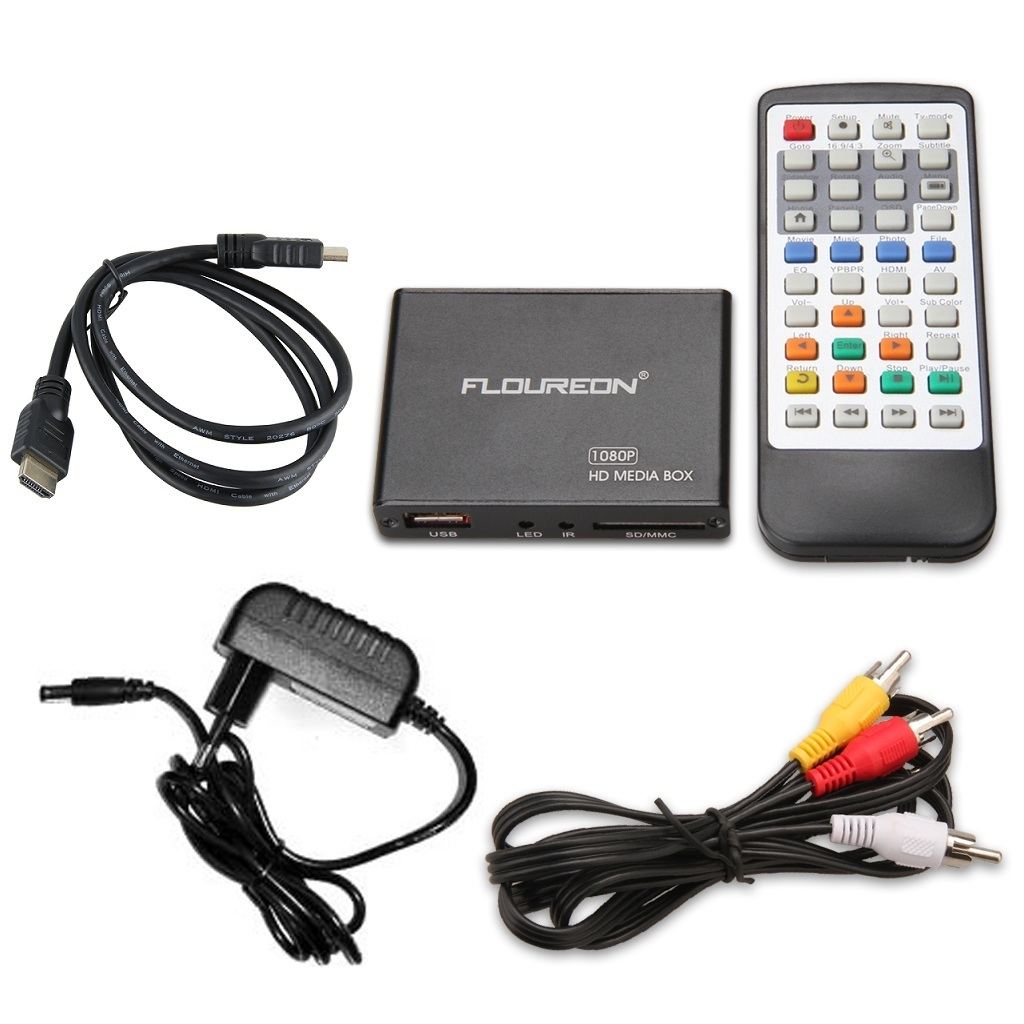 Floureon PDM08H - 1080p H 264 Support Blu-ray and 3D Mini