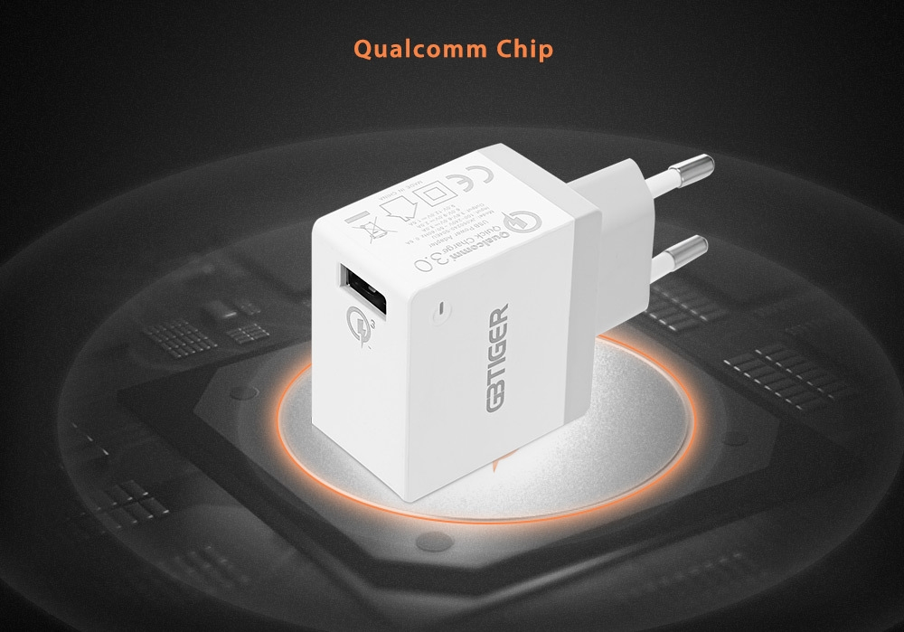 GBTIGER Qualcomm Certification QC 3.0 USB Multifunctional Quick Travel Adapter with LED Light