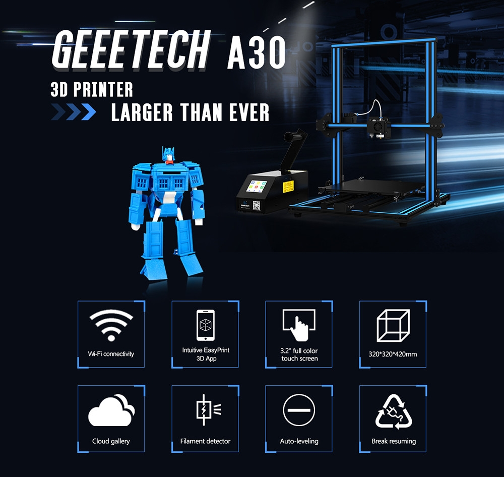 Geeetech Large Printing Size Desktop 3D Printer