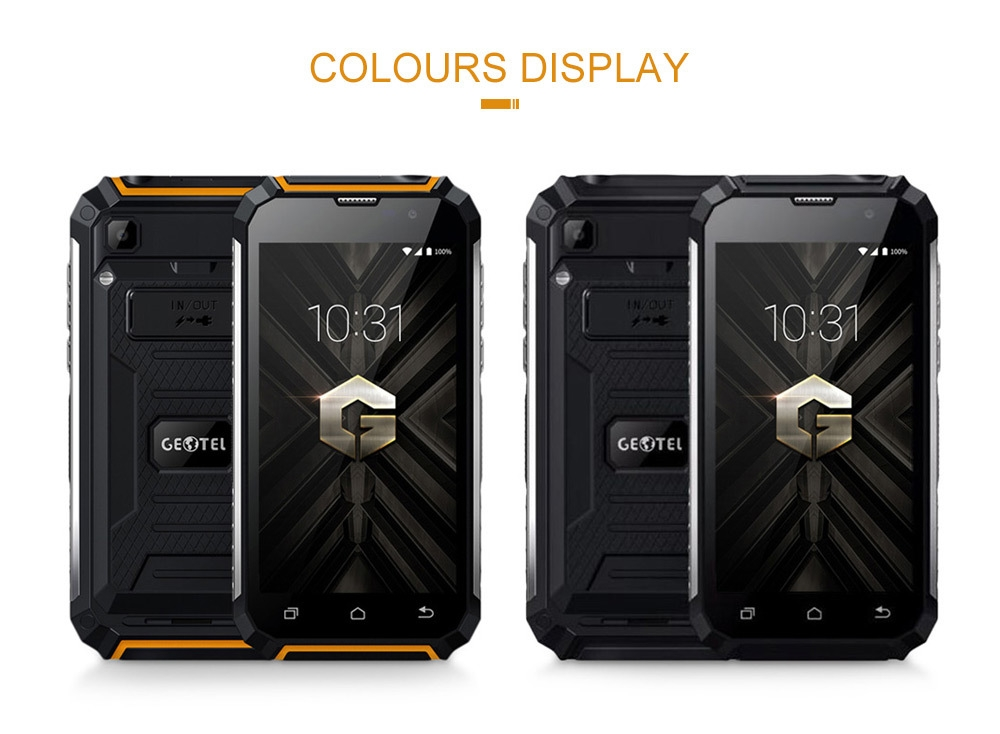 GEOTEL G1 5-inch 3G Smartphone 2GB RAM 16GB ROM MTK6580A 4-core 1.3GHz Water-resistant Charger