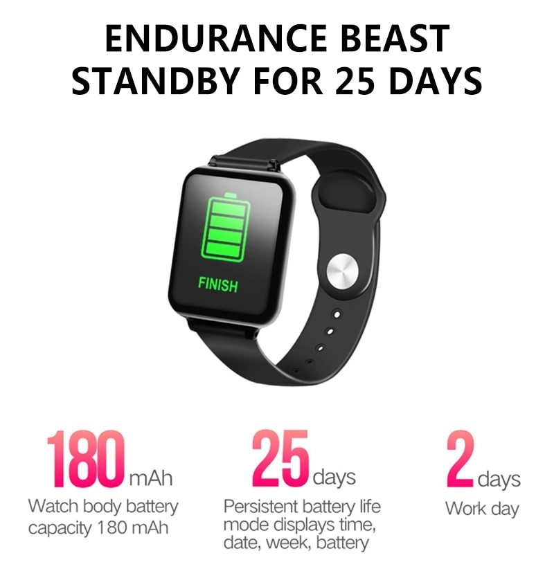 Smart Watches Waterproof Sports  Bands Bracelets Heart Rate Monitor Blood Pressure pink one size 4
