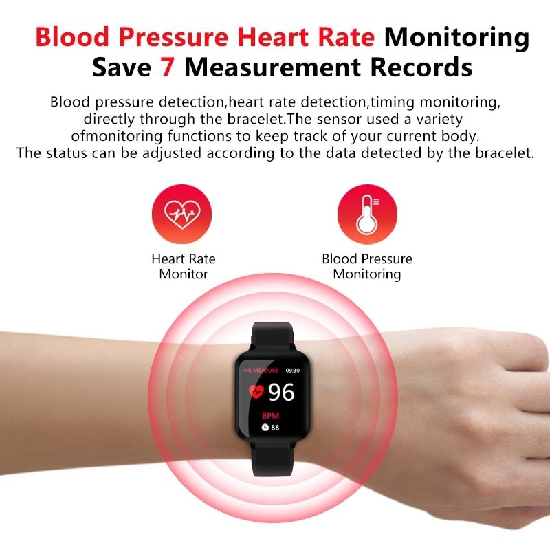 Smart Watches Waterproof Sports  Bands Bracelets Heart Rate Monitor Blood Pressure pink one size 5