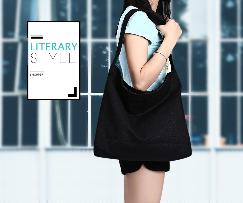 Buy Generic Leadsmart Guapabien Girl Practical Solid Color Large Female Canvas Shoulder Bag Capacity Travel Magnetic Button Shopping School