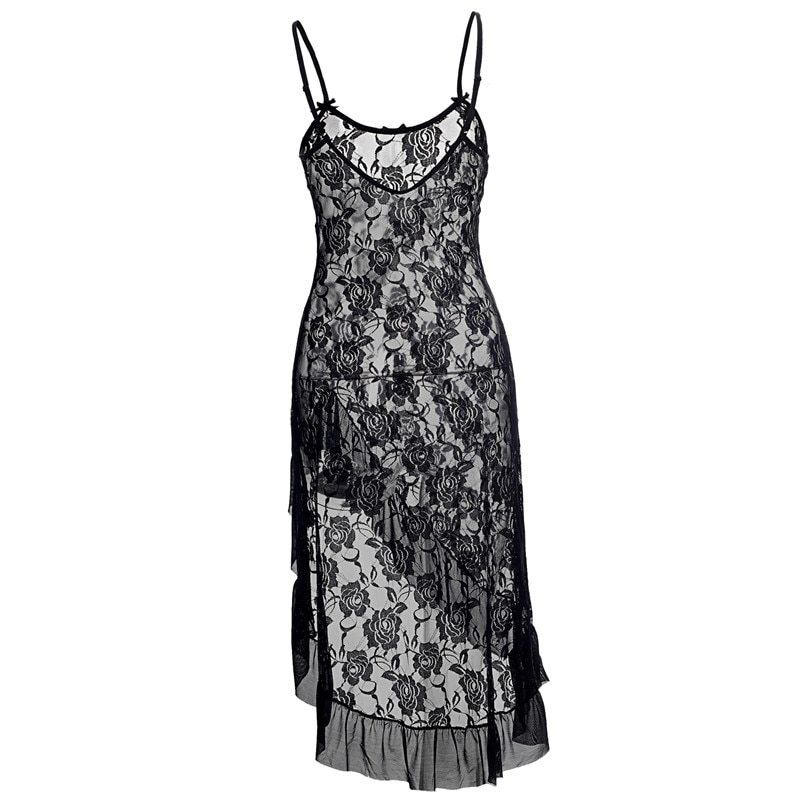 46a1c333eac6 Condition : 100% Brand New Color : As Shown as picture Material : Lace &  Polyester , Soft & Stretched ! Quantity : 1 Set ( Dress + Thong ) Size : (  S M L XL ...