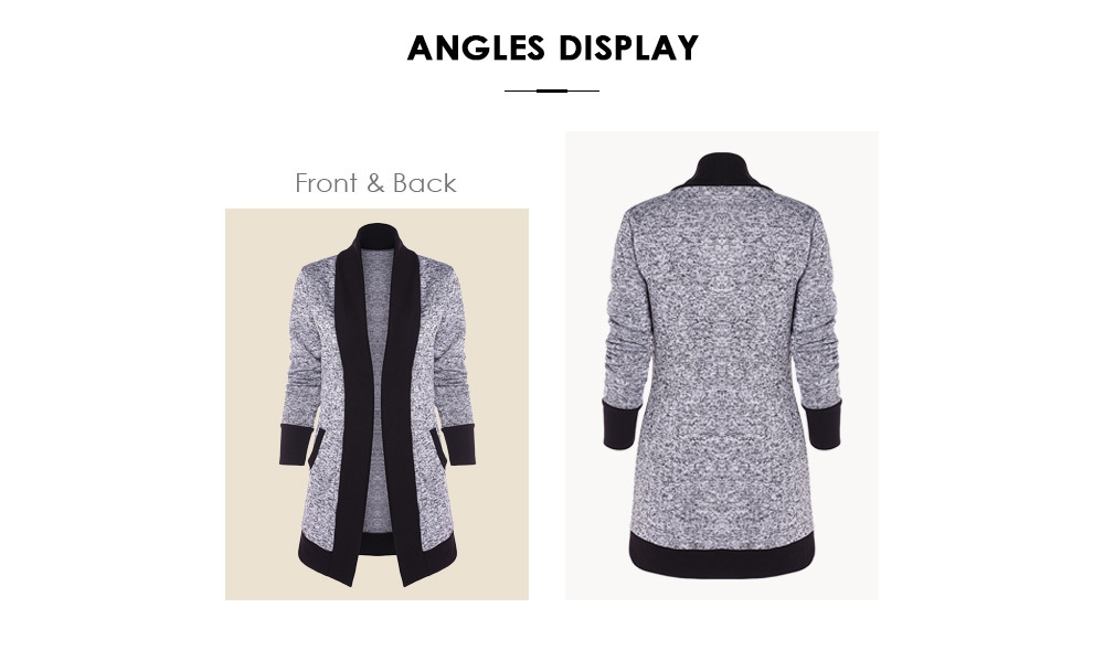 Generic Fashion Leadsmart Knit Two Tone Cardigan @ Best Price Online