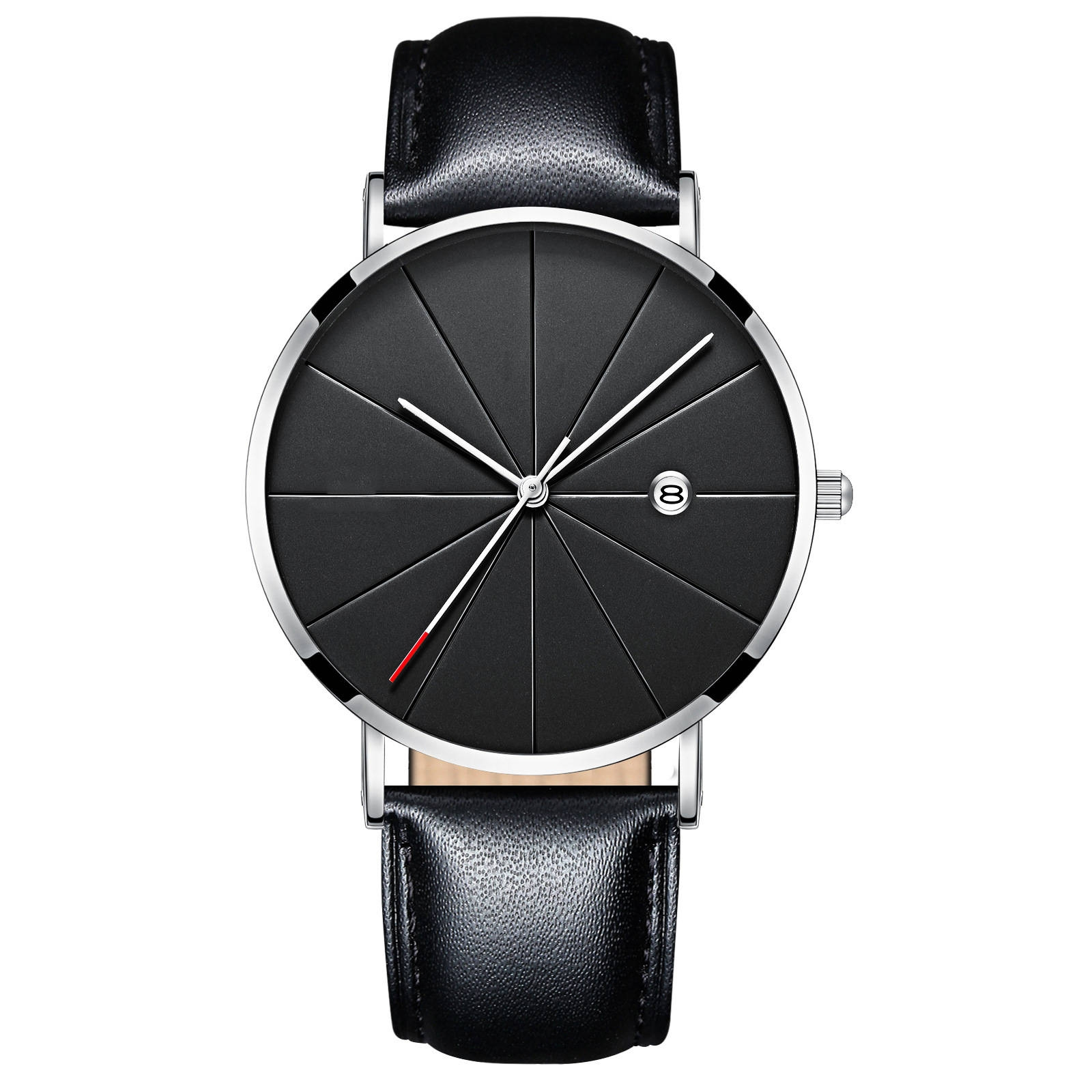 Luxury Watches Men Blue Stainless Steel Ultra Thin Watches Men Classic Quartz Date Men's Wrist Watch black+rose gold 25cm 4