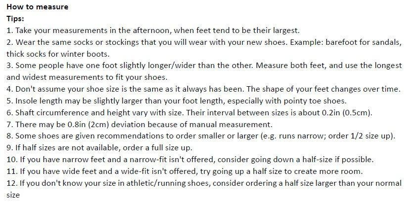 How to measure-tips