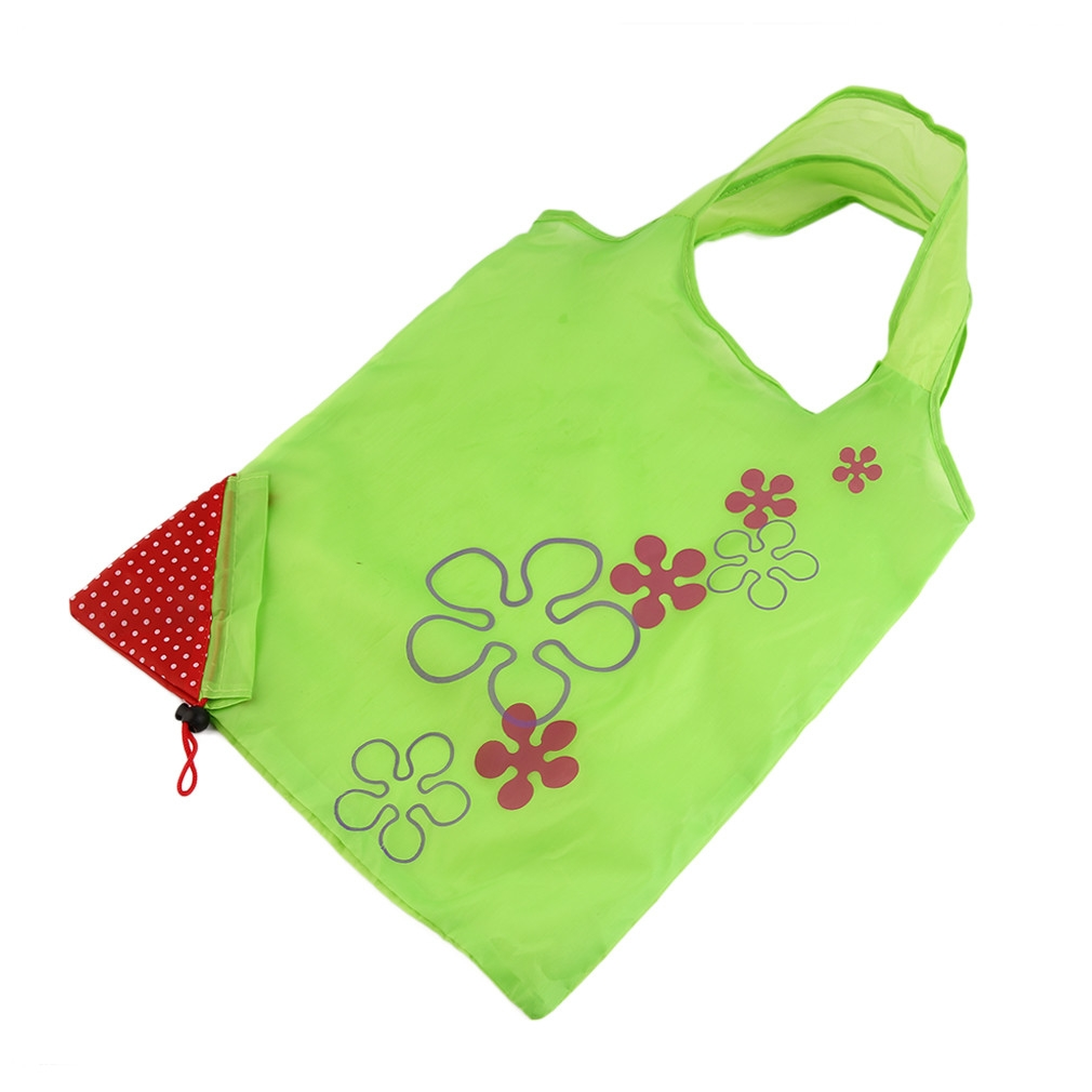 buy allwin 1 pc strawberry foldable shopping bag tote reusable eco friendly grocery bag green. Black Bedroom Furniture Sets. Home Design Ideas