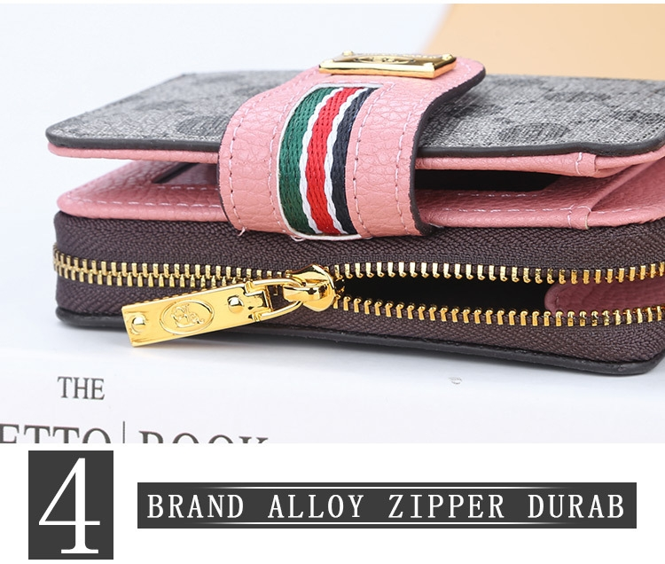Fashion Women Short Clutch Wallet Large Capacity Purse Ladies Purses Small Coin Pocket Card Holder red one size 19