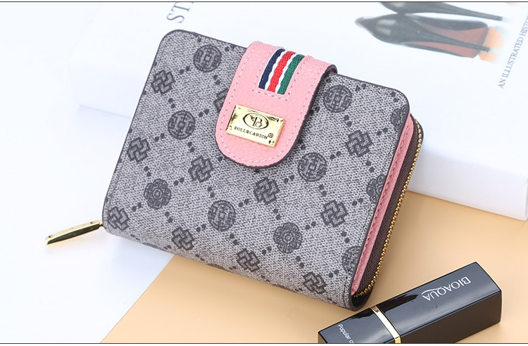 Fashion Women Short Clutch Wallet Large Capacity Purse Ladies Purses Small Coin Pocket Card Holder red one size 11
