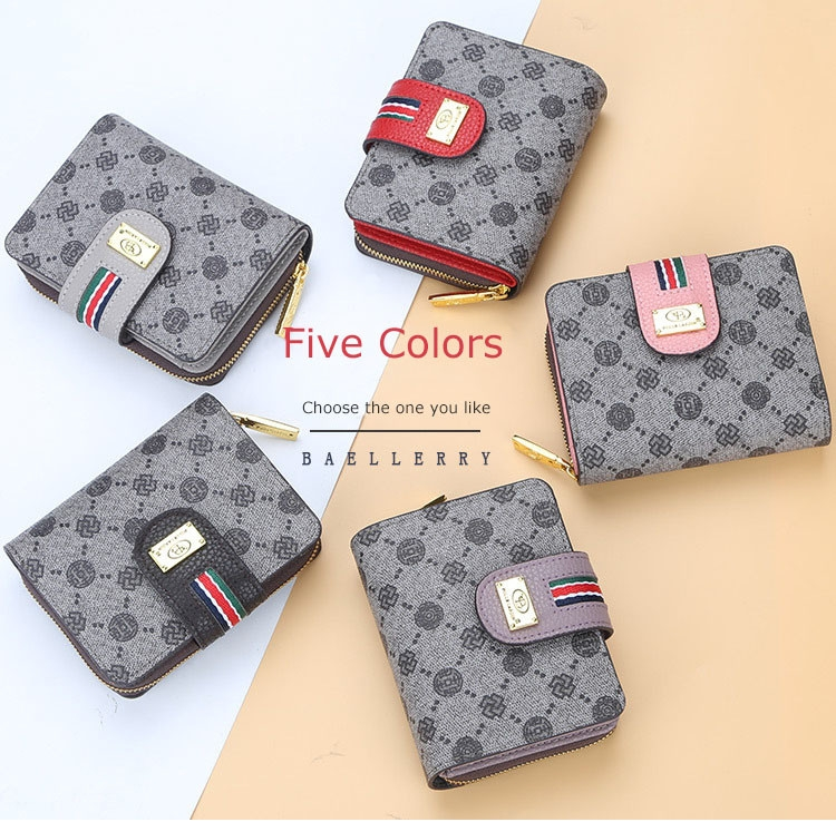 Fashion Women Short Clutch Wallet Large Capacity Purse Ladies Purses Small Coin Pocket Card Holder red one size 1