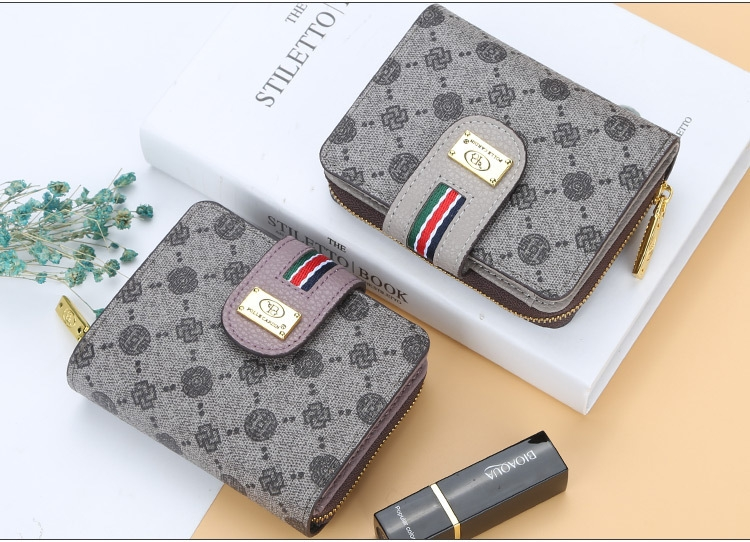 Fashion Women Short Clutch Wallet Large Capacity Purse Ladies Purses Small Coin Pocket Card Holder red one size 9