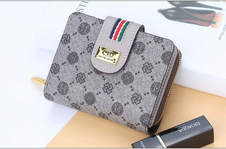 Fashion Women Short Clutch Wallet Large Capacity Purse Ladies Purses Small Coin Pocket Card Holder red one size 13