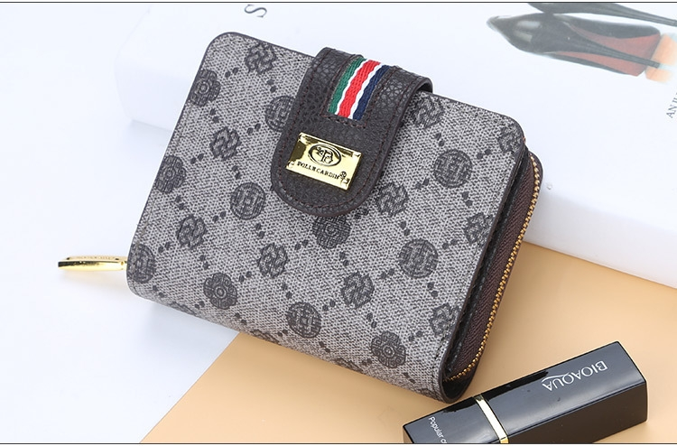 Fashion Women Short Clutch Wallet Large Capacity Purse Ladies Purses Small Coin Pocket Card Holder red one size 15