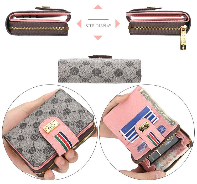 Fashion Women Short Clutch Wallet Large Capacity Purse Ladies Purses Small Coin Pocket Card Holder red one size 7