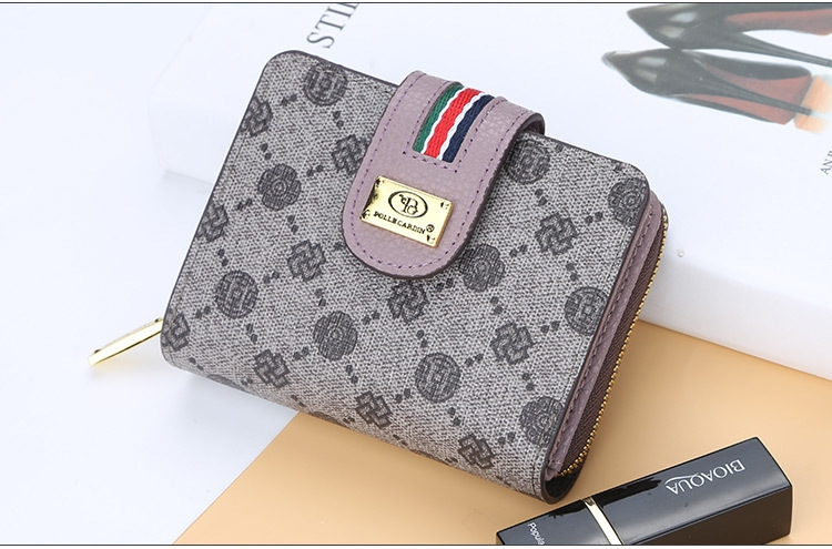 Fashion Women Short Clutch Wallet Large Capacity Purse Ladies Purses Small Coin Pocket Card Holder red one size 14