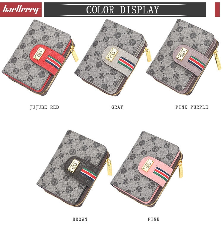 Fashion Women Short Clutch Wallet Large Capacity Purse Ladies Purses Small Coin Pocket Card Holder red one size 4