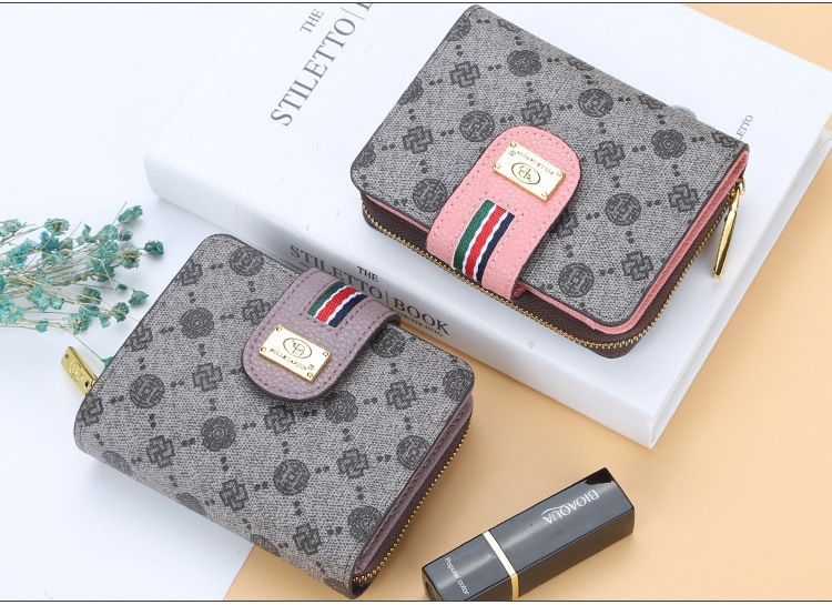 Fashion Women Short Clutch Wallet Large Capacity Purse Ladies Purses Small Coin Pocket Card Holder red one size 10
