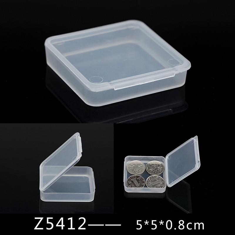 b9f4183f8 Fashion Square Transparent Plastic Jewelry Cosmetic Storage Box White Beads  Crafts Case