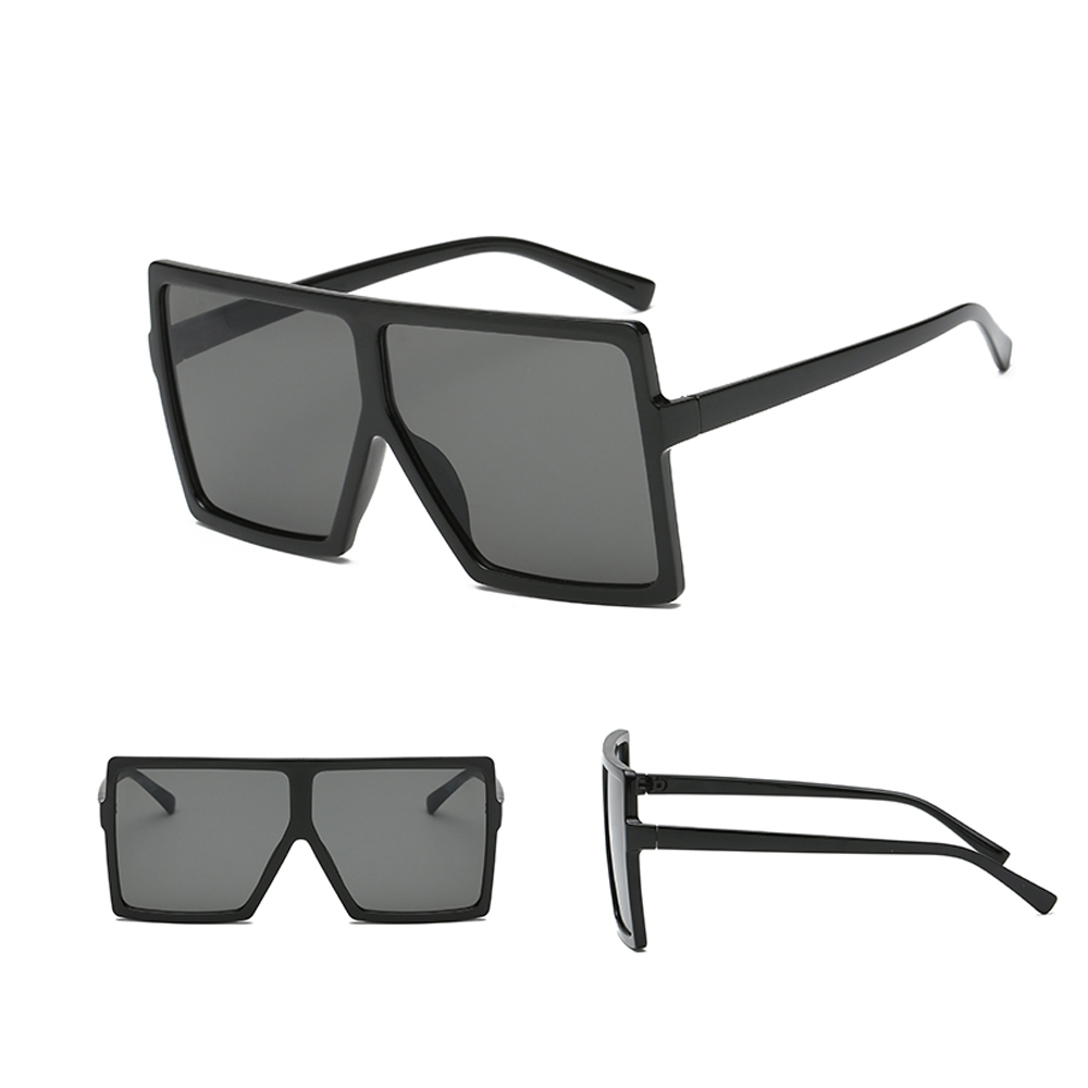 bf932fade380 Generic Leadsmart Oversize Rectangle Men Vintage Sunglasses -Gold ...