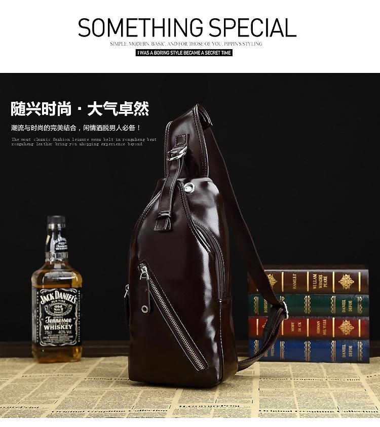 Generic Men Crossbody Bag Fashion Leather Mens Shoulder Bag