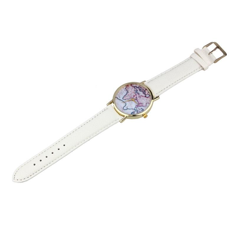 vintage earth world map watch alloy women analog quartz wrist watches wh image image image image
