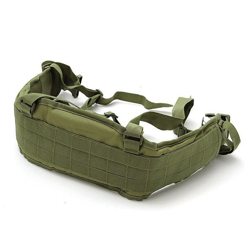 Tactical Waist Padded Belt With H-shaped Suspender 1000D Nylon Molle  Shooting Adjustable Waist Bearing Belt Band007