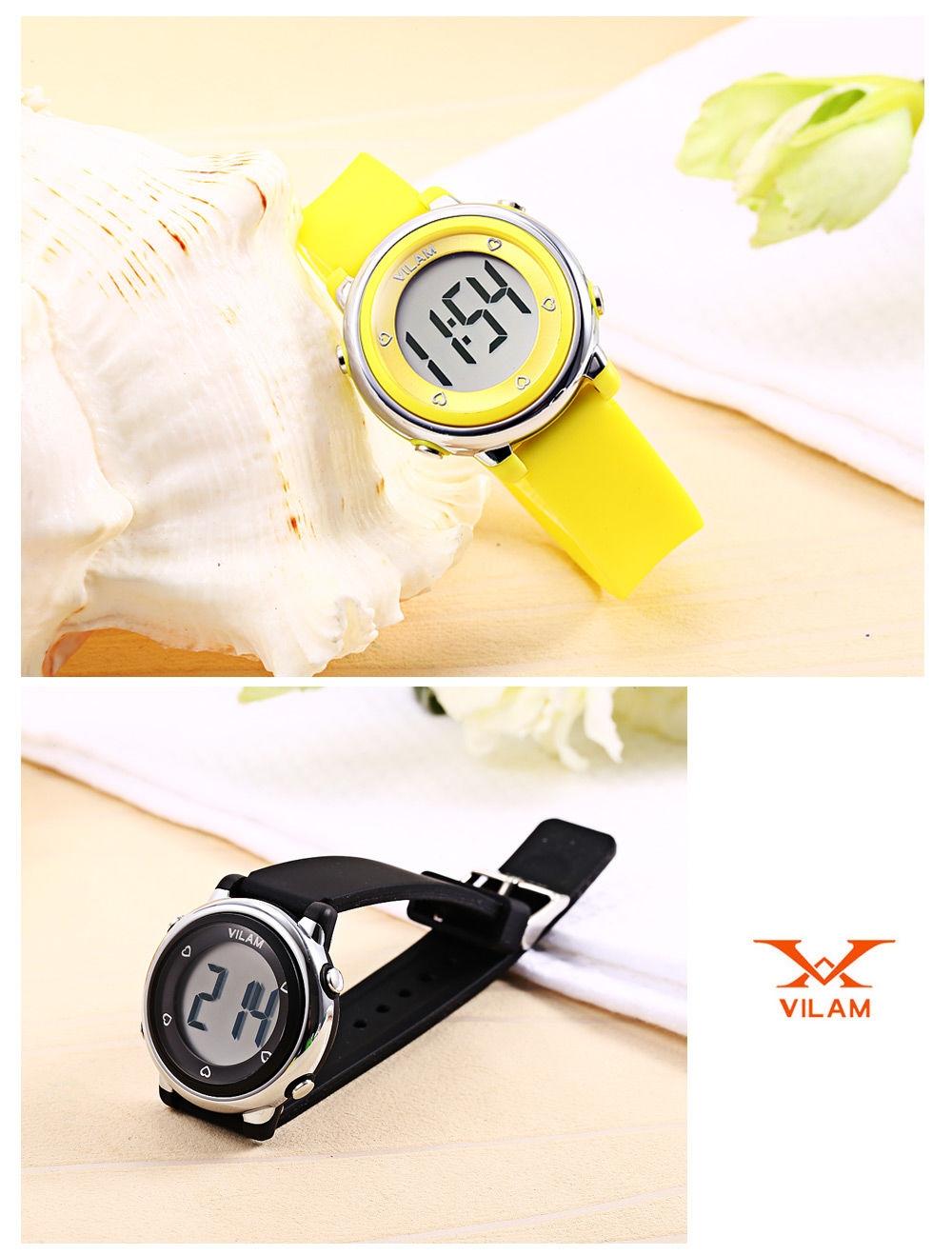 VILAM 06035 Kids Digital Sports Watch Calendar LED Light 50m Water Resistance Wristwatch
