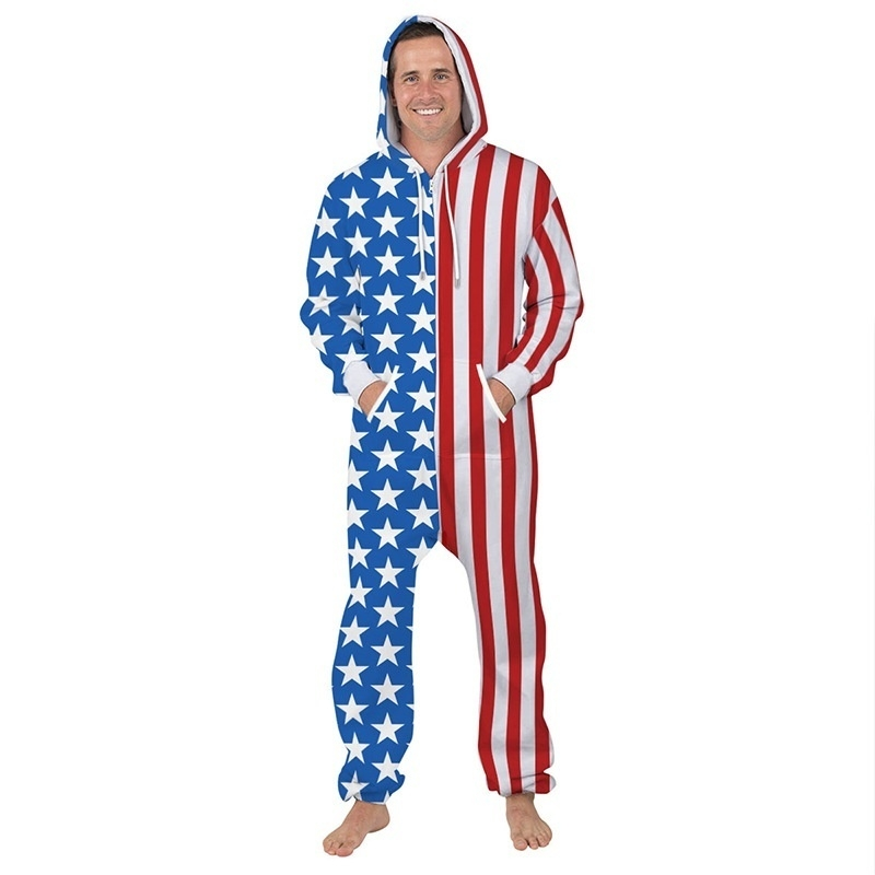 aa1b69255645 ... image. Key Features. Digital Print  pants  Long Sleeve  onepiece  USA  flag ...
