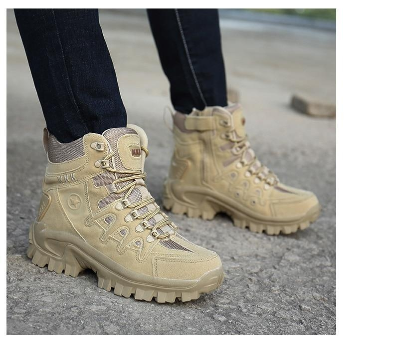 Brand Men\'s Boots Military boot Tactical Big Size Army Male Shoes Safety Combat Mens Chukka Ankle Bot Motocycle Boots (17)