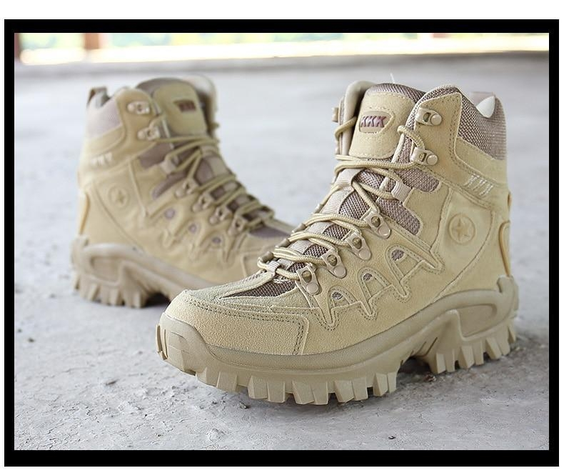 Brand Men\'s Boots Military boot Tactical Big Size Army Male Shoes Safety Combat Mens Chukka Ankle Bot Motocycle Boots (16)