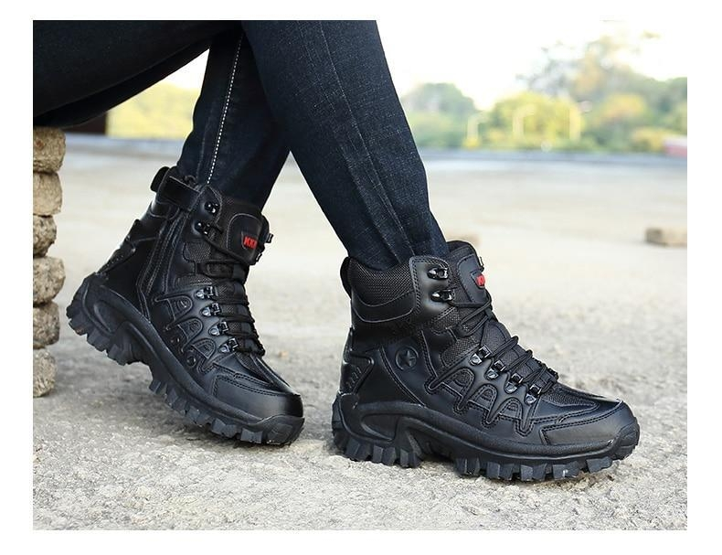 Brand Men\'s Boots Military boot Tactical Big Size Army Male Shoes Safety Combat Mens Chukka Ankle Bot Motocycle Boots (21)