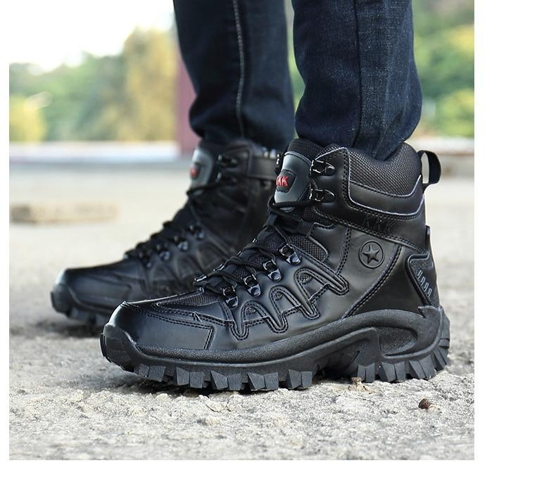 Brand Men\'s Boots Military boot Tactical Big Size Army Male Shoes Safety Combat Mens Chukka Ankle Bot Motocycle Boots (20)