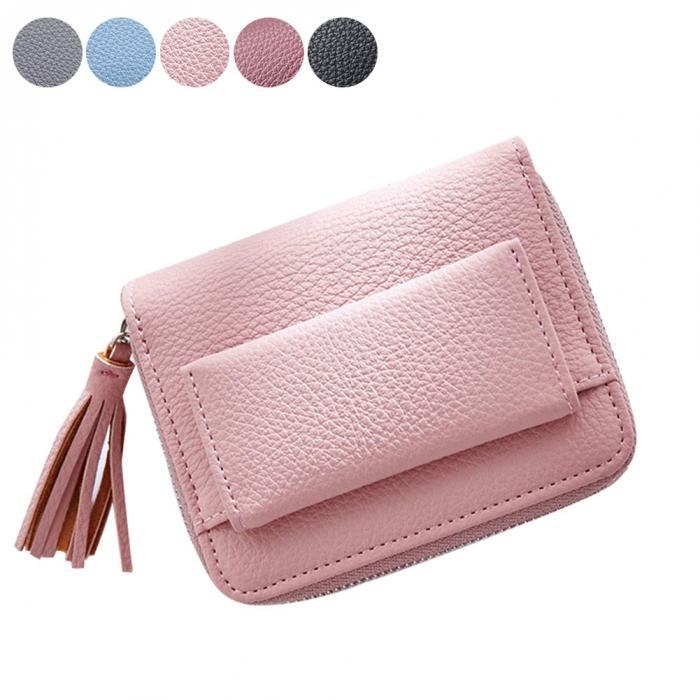 c19d17d3f Generic Fashion Women Short Money Wallet Small Wallet Tel Pendant PU ...