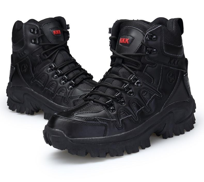 Brand Men\'s Boots Military boot Tactical Big Size Army Male Shoes Safety Combat Mens Chukka Ankle Bot Motocycle Boots (15)