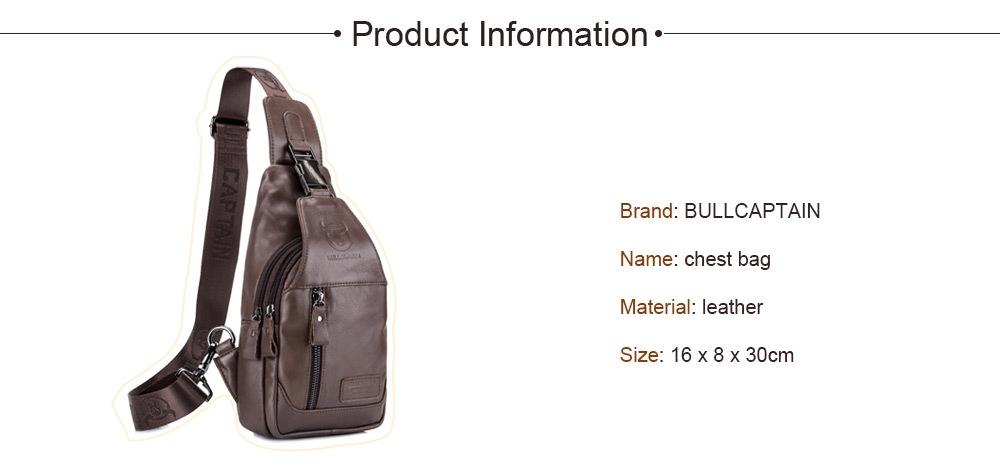 BULLCAPTAINAnti-theft Leather Chest Bag for Men