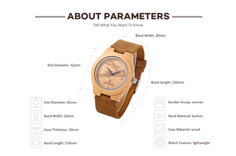 Buy Generic Leadsmart Redear 1448l Women Quartz Wooden Watch Wood