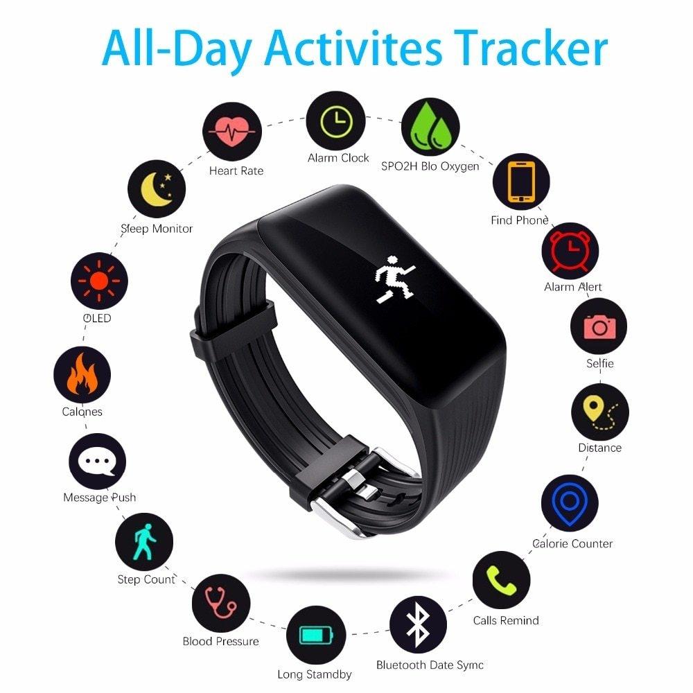 Generic K1 Smart Bracelet Fitness Tracker Smart Wristband