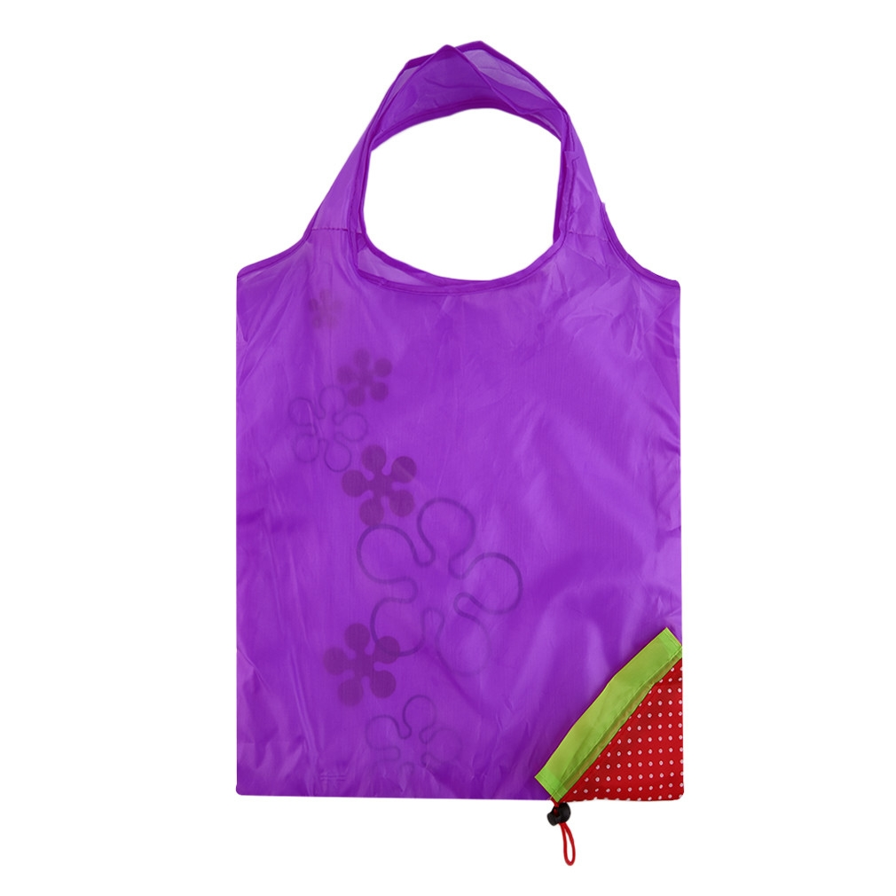 buy allwin 1 pc strawberry foldable shopping bag tote reusable eco friendly grocery bag purple. Black Bedroom Furniture Sets. Home Design Ideas