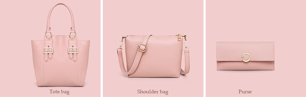 Women Handbag Shoulder Bag Purse Set